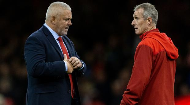 Rob Howley, right, and Warren Gatland formed a coaching partnership with Wales which has now been destroyed (Paul Harding/PA)