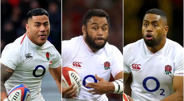 Manu Tuilagi, Billy Vunipola and Joe Cokanasiga are all set to play for England in the Rugby World Cup (Gareth Fuller, Adam Davy, David Davies/PA)