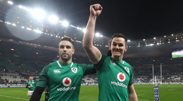 Ireland's Johnny Sexton, right, and Conor Murray have been backed to light up the World Cup (Gareth Fuller/PA)