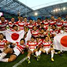 Will Japan be celebrating another memorable World Cup – this time on home soil? (Gareth Fuller/PA)