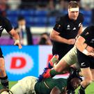 New Zealand saw off a spirited South Africa display to open their World Cup campaign with victory in Yokohama (Adam Davy/PA)