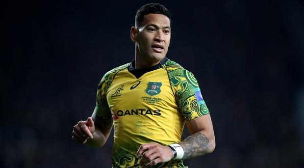 Israel Folau will play rugby league for Tonga against Great Britain and Australia (Adam Davy/PA)