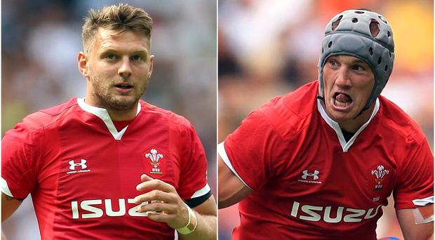Dan Biggar and Jonathan Davies are hoping to be fit (Nigel French/Adam Davy/PA)