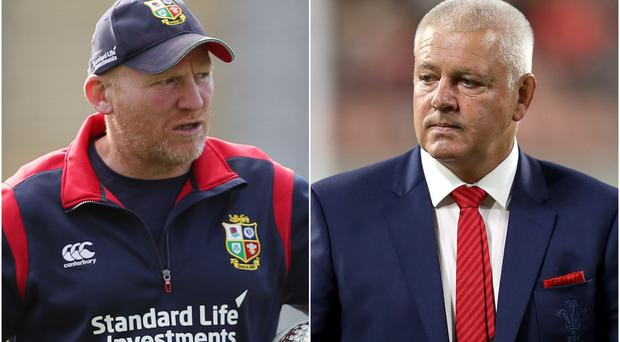 Wales assistant coach and skills specialist Neil Jenkins (left) has been with Warren Gatland every step of the way (David Davies/PA)