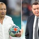 Eddie Jones and Steve Hansen face each other in the World Cup semi-finals this weekend (David Davies/Adam Davy/PA)