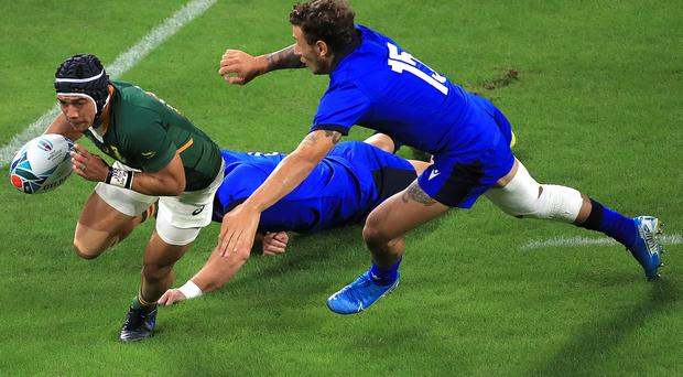 Wales defence coach Shaun Edwards is wary of the threat posted by South Africa winger Cheslin Kolbe.