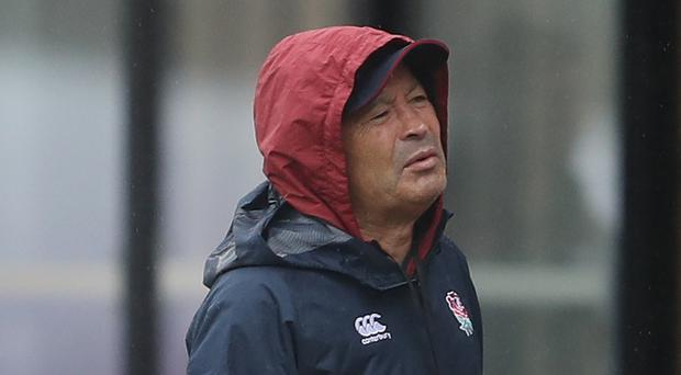 Eddie Jones at England training on Tuesday, where he claims they were filmed by an unidentified cameraman (David Davies/PA)