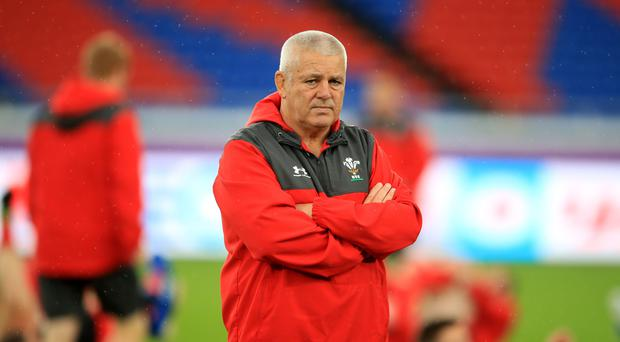 Wales head coach Warren Gatland hopes to lead his side in to a Rugby World Cup final against England (Adam Davy/PA)