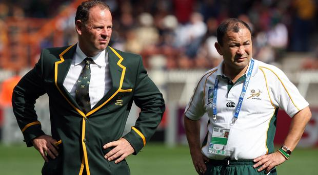 Eddie Jones, pictured right, was Jake White's assistant in France 12 years ago (David Davies/PA)