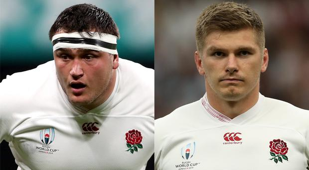 Jamie George, left, cannot wait for Owen Farrell's team talk (David Davies/PA)