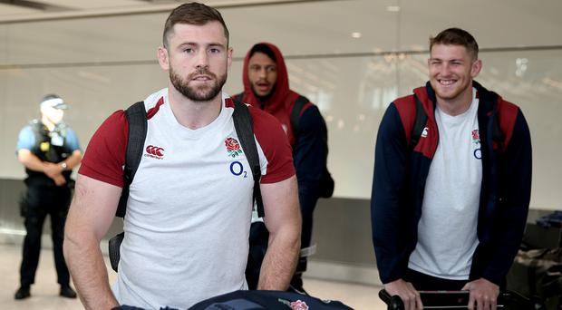England arrived back at Heathrow on Monday afternoon (Steven Paston/PA)