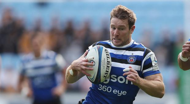 Bath's Will Chudley scored the first try against Northampton (David Davies/PA)