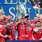 Tainted success: Sarries lift the European Cup