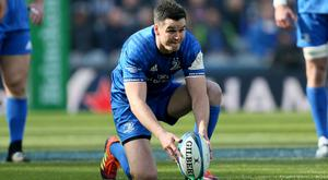Leinster's Johnny Sexton suffered an injury against Northampton, Richard Sellers/PA