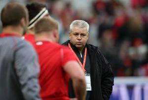 Man in charge: Warren Gatland will lead Wales into a World Cup for the second time in Autumn