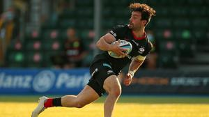 Saracens' Dom Morris scores his side's second try of the game (Nigel French/PA)