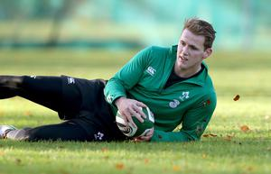 Warm up: Craig Gilroy hopes to sparkle for Joe Schmidt's side at the Aviva Stadium tomorrow