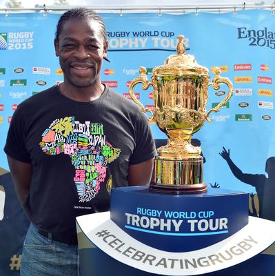 Serge Betsen, pictured with the Webb Ellis Cup, believes France can lift the trophy in 2023 (Hannah McKay/PA)