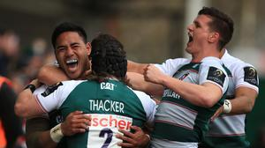 Leicester, pictured, will play Racing 92 in the semi-finals