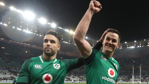 Johnny Sexton (right) and Conor Murray (left) have been Ireland's first-choice half-back pairing (Gareth Fuller/PA)