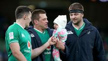 Jacob Stockdale and Iain Henderson are joined by CJ Stander and his daughter Everli