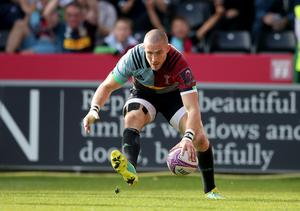 Harlequins' Mike Brown is glad to be back in the England training squad (Adam Davy/PA)