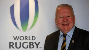 Pacific Rugby Players Welfare has called for a review into the re-election of Bill Beaumont, pictured, as World Rugby chairman (Brian Lawless/PA)