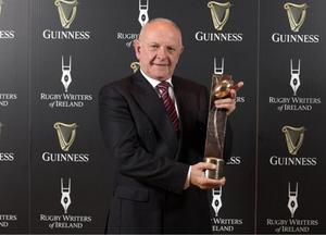 Prized asset: Colin Patterson inducted into the Rugby Writers Ireland Hall of Fame in 2017