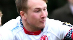 Get in: Malone ace Stewart Moore bagged two tries