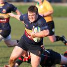 Bonus point: Peter Cromie scored Banbridge's fourth try