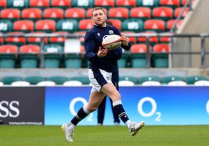 Finn Russell inspired Scotland to a draw at Twickenham in 2019 (Adam Davy/PA)