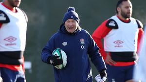 Eddie Jones, centre, wants an immrediate response after the loss to Scotland (Peter Cziborra/PA)