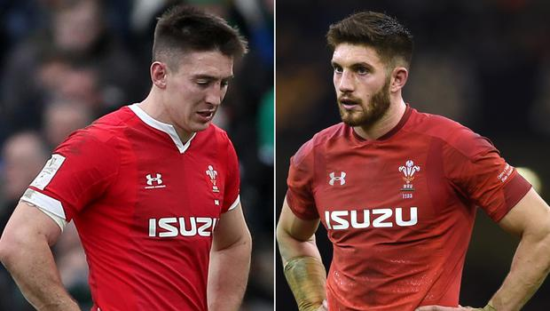 Josh Adams, left, could feature but Owen Williams' Six Nations is over (Brian Lawless/Joe Giddens/PA)