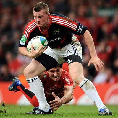 Denis Hurley scored the second of Munster's four tries