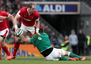 Wales captain Alun Wyn Jones (left) is on course to break the record for the most Test appearances (Brian Lawless/PA)