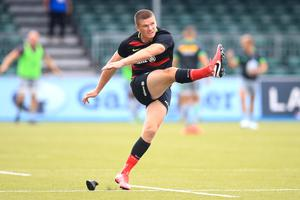 Owen Farrell kicked 10 points for Saracens in their 20-10 victory over Leinster in May, 2019 (Adam Davy/PA)
