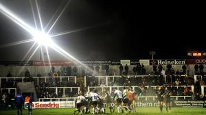 *EDITORS PLEASE NOTE EFFECT CREATED BY USING A STAR FILTER* Newcastle Falcons have repurchased their Kingston Park ground, pictured, from Northumbria University