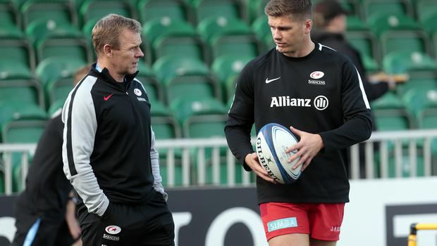 Mark McCall discussed Owen Farrell's return to action (Graham Stuart/PA)