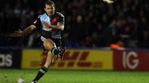 A faultless kicking display from Harlequins' Nick Evans made sure of a much-needed win