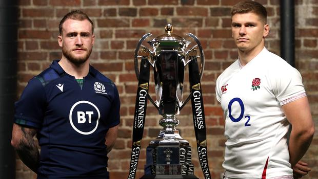 Scotland's Stuart Hogg (left) insists he is not interested in a war of words with England (Steven Paston/PA)