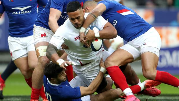 Manu Tuilagi limped off after 16 minutes in Paris (David Davies/PA)