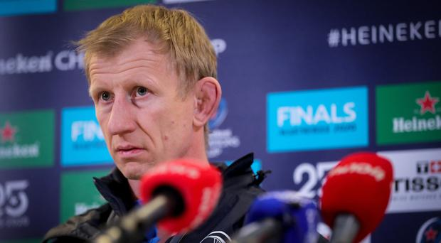 Bad memories: Leo Cullen has admitted he'll never forget the challenging period shortly after he took the Leinster reins