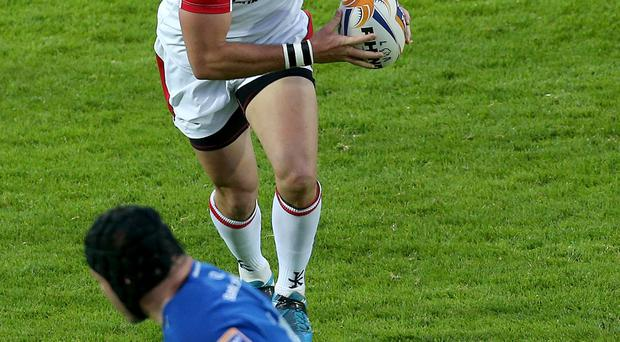 Good to be back: Ulster's Ruan Pienaar made a decisive, and try-scoring, return to the Ulster ranks on Saturday night