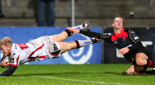 Stuart Olding hopes to get among the Ulster scorers against Toulon tomorrow