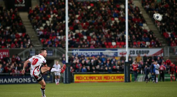 Pressure time: Ian Humphreys admits he loves the responsibility of taking on the kicking duties for Ulster