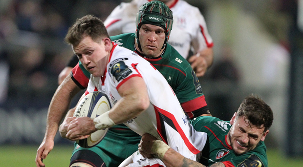 Craig Gilroy in action the last time Ulster faced Leicester