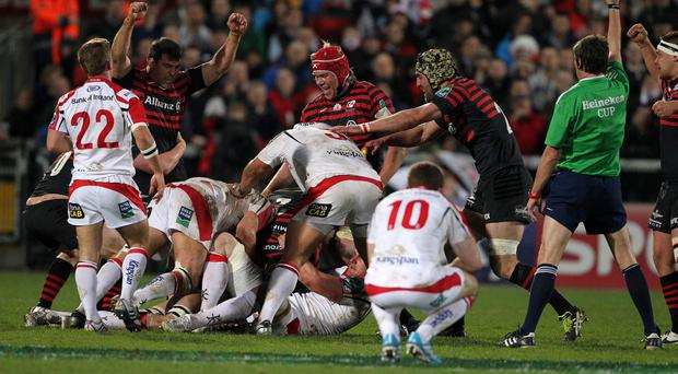 Familiar foes: Sarcens will be back at Kingspan in the Champions Cup