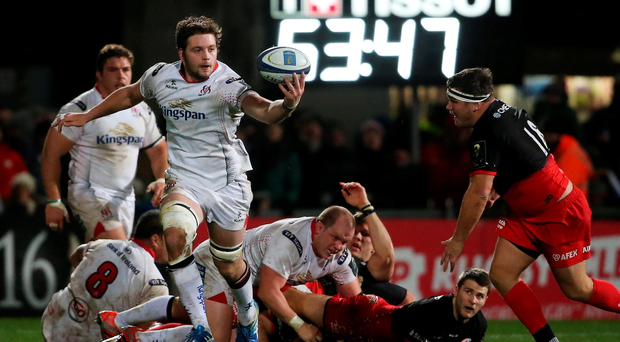 All in hand: Iain Henderson came through 80 minutes against Saracens after returning from the injury picked up at the World Cup
