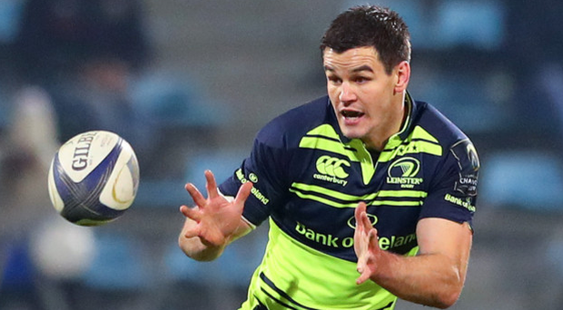 Major setback: Johnny Sexton before going off injured at Castres last night