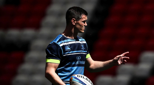 World class: Jonathan Sexton during the Leinster Captain's Run in Bilbao yesterday
